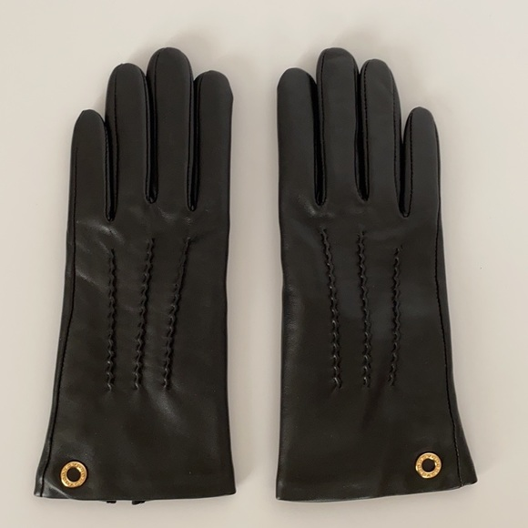 Coach Classic Black Leather Gloves